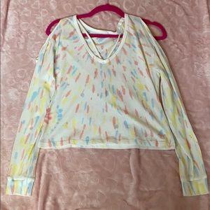 Tie Dye Cutout Long Sleeve